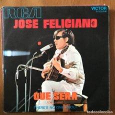 Discos de vinilo: JOSÉ FELICIANO - QUÉ SERÁ - SINGLE RCA 1971 SPAIN. Lote 167729168
