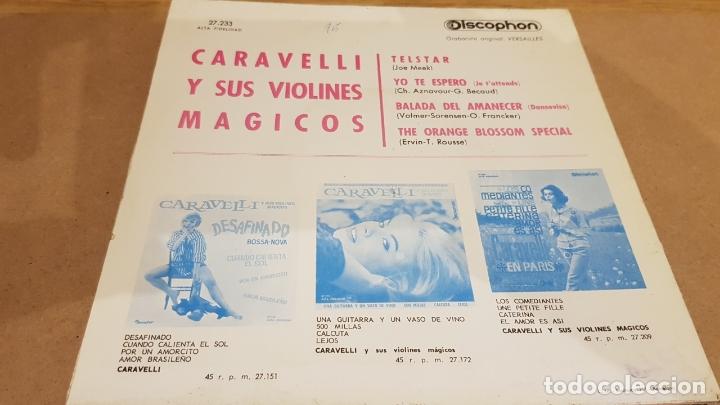 Discos de vinilo: CARAVELLI Y SUS VIOLINES MÁGICOS / TELSTAR / EP - DISCOPHON-1963 / MBC. ***/*** - Foto 2 - 167729752