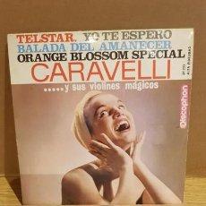 Discos de vinilo: CARAVELLI Y SUS VIOLINES MÁGICOS / TELSTAR / EP - DISCOPHON-1963 / MBC. ***/***. Lote 167729752