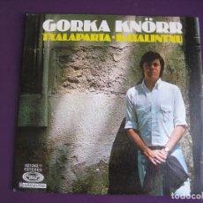 Disques de vinyle: GORKA KNÖRR SG MOVIEPLAY 1977 TXALAPARTA / KATALINTXU - FOLK PROTESTA VASCO - SIN USO. Lote 167729956
