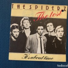 Discos de vinilo: THE SPIDERZ ?– THE TEST SELLO: WEA ?– 18487 FORMATO: VINYL, 7 , 45 RPM, SINGLE PAÍS: FRANCE . Lote 167737932
