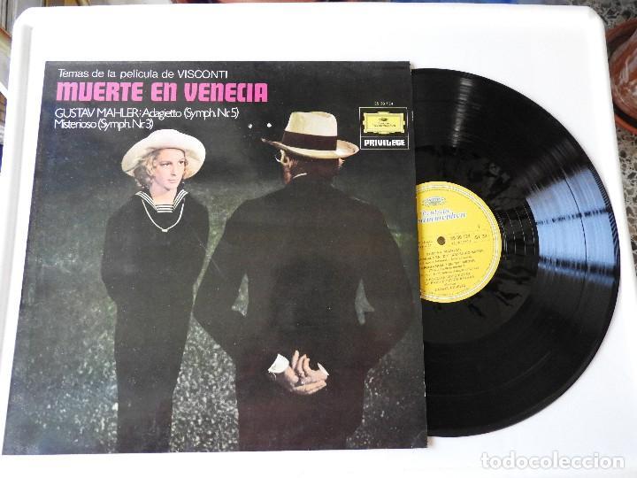 MÚSICA DE MUERTE EN VENECIA, DE GUSTAV MAHLER (Música - Discos - LP Vinilo - Clásica, Ópera, Zarzuela y Marchas)