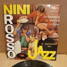 Discos de vinilo: NINI ROSSO / EL MUCHACHO DEL JAZZ / EP - DURIUM-1963 / MBC. ***/***. Lote 167742628