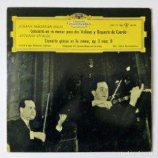 Discos de vinilo: 10'' BACH - VIVALDI - DAVID E IGOR OISTRACH VIOLINES LPE 17 160 DEUTSCHE GRAMMOPHON GEWANDHAUS. Lote 167742992