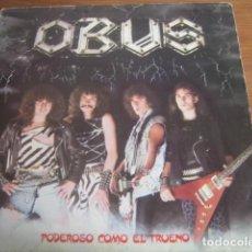 Discos de vinilo: OBUS - PODEROSO COMO EL TRUENO *********** RARO ESPAÑOL GRAN ESTADO. Lote 167750404