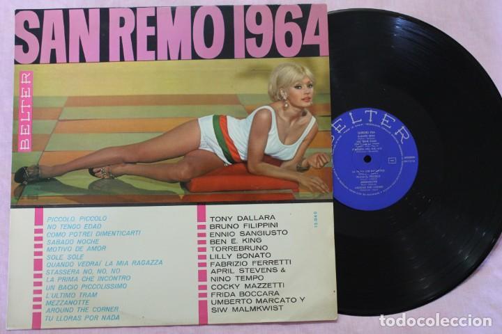 SAN REMO 1964 LP VINYL MADE IN SPAIN 1964 (Música - Discos - LP Vinilo - Otros Festivales de la Canción)