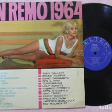 Discos de vinilo: SAN REMO 1964 LP VINYL MADE IN SPAIN 1964. Lote 167757620