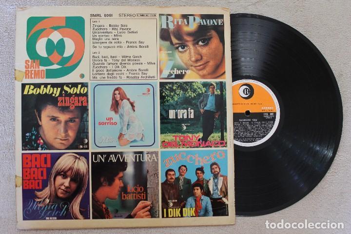 Discos de vinilo: SAN REMO 69 LP VINYL MADE IN ITALY 1969 - Foto 2 - 167757732