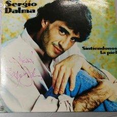 Discos de vinilo: DISCO ANTIGUO LP DE VINILO DE SERGIO DALMA CON AUTÓGRAFO DEL CANTANTE. Lote 167763484