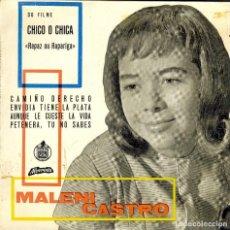 Discos de vinilo: MALENI CASTRO //PETENERA , TU NO SABES // ENVIDIA TIENE LA PLATA // + 2 ( PORTUGAL ). Lote 167768568