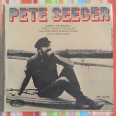 Discos de vinilo: PETE SEEGER EP EDIC ESPAÑA CON HOJA INTERIOR LETRAS MUY BIEN CONSERVADO. Lote 167777280