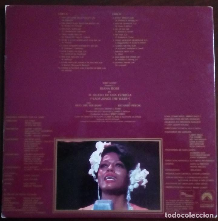 Discos de vinilo: Diana Ross..El Ocaso De Una Estrella.. Lady Sings The Blues (BSO).(Tamla Motown 1973) Spain. - Foto 2 - 167795048