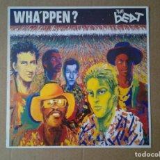 Discos de vinilo: THE BEAT -WHA'PPEN- LP GO-FEET RECORDS 1981 ED. ESPAÑOLA I-203.701 MUY BUENAS CONDICIONES.. Lote 167799312