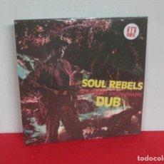 Discos de vinilo: BOB MARLEY & THE WAILERS - SOUL REBELS DUB - LP - NUEVO PRECINTADO EDICION LIMITADA VINILO ROJO. Lote 167802656