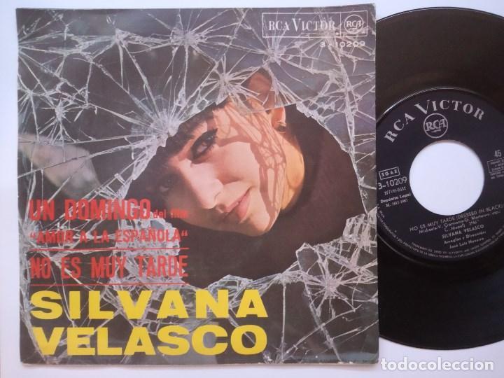 Discos de vinilo: SILVANA VELASCO - un domingo / no es muy tarde - SINGLE 1967 - RCA - Foto 2 - 167825164