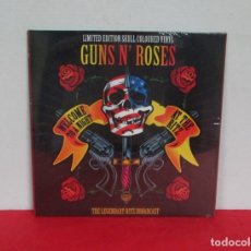 Discos de vinilo: GUNS N´ ROSES - THE LEGENDARY RITZ BROADCAST -LP- CODA 2017 EU LIMITED EDITION SKULL COLOURED VINYL. Lote 167827456
