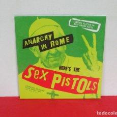 Discos de vinilo: SEX PISTOLS - ANARCHY IN ROME -LP- CODA 2018 EU LIMITED EDITION ON SNOT GREEN VINYL - PRECINTADO. Lote 167827816