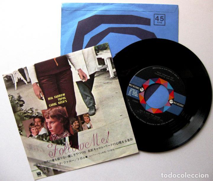 Discos de vinilo: John Barry - Follow Me! - Single MCA Records 1973 Japan (Edición Japonesa) BPY - Foto 2 - 167830336