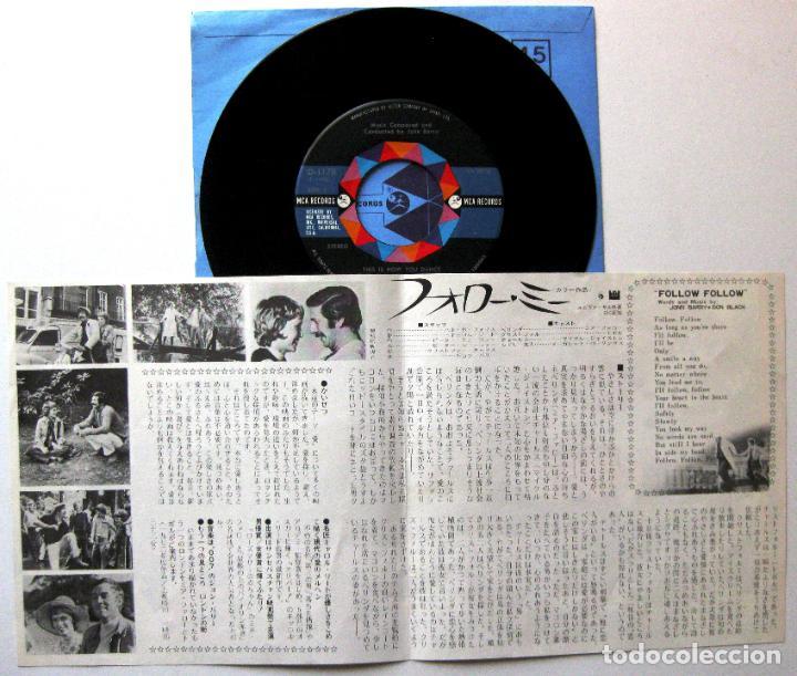 Discos de vinilo: John Barry - Follow Me! - Single MCA Records 1973 Japan (Edición Japonesa) BPY - Foto 3 - 167830336