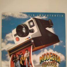 Discos de vinilo: MODESTIA APARTE - HISTORIAS SIN IMPORTANCIA - LP VINILO. Lote 167833812