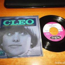Discos de vinilo: CLEO LOS FAUNOS +3 EP DE VINILO DEL AÑO 1967 ESPAÑA DISQUES VOGUE 4 TEMAS MUY RARO POP FRANCES. Lote 167834800