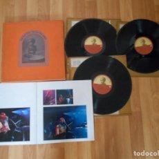 Discos de vinilo: THE CONCERT FOR BANGLA DESH-CAJA CON TRES LP + LIBRETO-1971. Lote 167836248