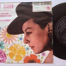 Discos de vinilo: LOLITA SEVILLA - SON VERDES MIS OJOS - EP COMPACT 33RPM DOUBLE 1961 - RCA - RARO. Lote 167836968
