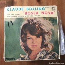 Discos de vinilo: CLAUDE BOLLING - BOSSA NOVA - EP PHILIPS 1963. Lote 167844116