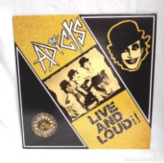 Discos de vinilo: THE ADICTS LIVE AND LOUD PUNK INGLÉS AÑO 1987, MUY BUEN ESTADO. Lote 183861173