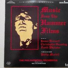 Discos de vinilo: MUSIC FROM THE HAMMER FILMS DRACULA LP SILVA SCREEN 1989 UK (LEER DESCRIPCIÓN). Lote 167852452