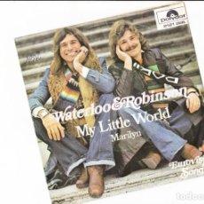 Discos de vinilo: 45 GIRI WATERLLOO & ROBINSON MY LITLE WORLD SABAM POLYDOR EUROVISION 1976 AUSTIRIA . Lote 167855788