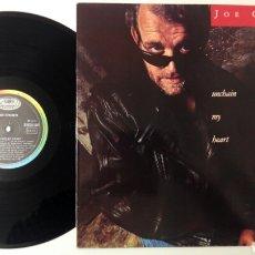 Discos de vinilo: JOE COCKER 1987 UNCHAIN MY HEART. Lote 167862805
