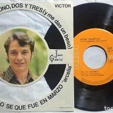 Discos de vinilo: JUAN GABRIEL 1972 - SERÁ MAÑANA / UNO, DOS Y TRES / LILY / SOLO SE QUE FUE EN MARZO SUMAMENTE RARO. Lote 167875508