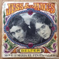 Discos de vinilo: JESS & JAMES MOVE SINGLE BELTER. Lote 167903804