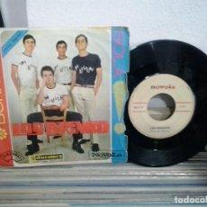 Discos de vinilo: LMV - LOS BRINCOS. BORRACHO. NOVOLA 1965. SINGLE. Lote 167906380