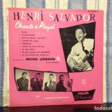 Discos de vinilo: HENRI SALVADOR – CHANTE A PLEYEL / RARO LP VINYL 10' FRANCE 1955 (NEW) ORIGINAL. Lote 167915708