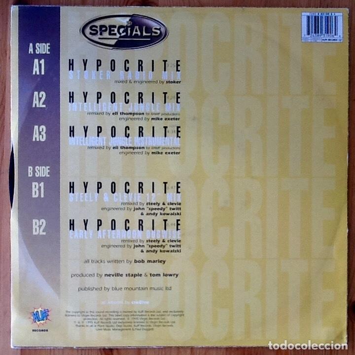 Discos de vinilo: THE SPECIALS : HYPOCRITE [UK 1995] 12 - Foto 2 - 167918216