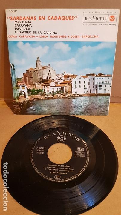 COBLAS CARAVANA-MONTGRINS Y BARCELONA / SARDANAS EN CADAQUÉS / EP - RCA-VICTOR-1963 / MBC. ***/*** (Música - Discos de Vinilo - EPs - Country y Folk)