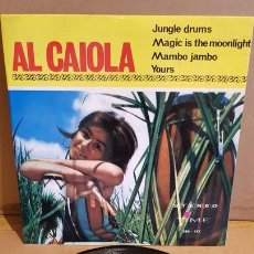 Discos de vinilo: AL CAIOLA / JUNGLE DRUMS / EP - TIME-SERIES 2000 - 1964 / MBC. ***/***. Lote 167934012