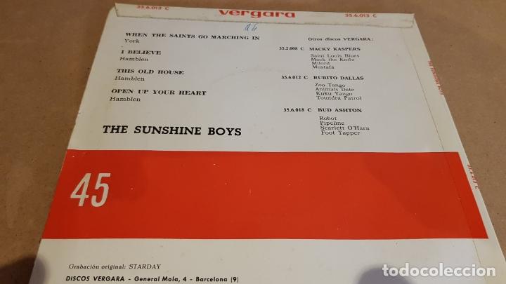 Discos de vinilo: THE SUNSHINE BOYS / WHEN THE SAINTS GO MARCHING IN / EP - VERGARA-1963 / MBC. ***/*** - Foto 2 - 167934788