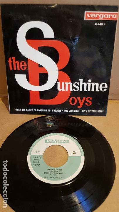 THE SUNSHINE BOYS / WHEN THE SAINTS GO MARCHING IN / EP - VERGARA-1963 / MBC. ***/*** (Música - Discos de Vinilo - EPs - Pop - Rock Internacional de los 50 y 60)