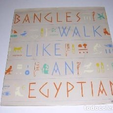 Discos de vinilo: BANGLES - WALK LIKE AN EGYPTIAN / ANGELS DON'T FALL IN LOVE. Lote 167960868