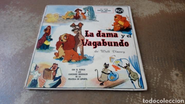 LA DAMA Y EL VAGABUNDO. CANCIONES DE LA PELÍCULA EN ESPAÑOL. DOBLE DISCO ORIGINAL DE 1959 - (Música - Discos - Singles Vinilo - Música Infantil)