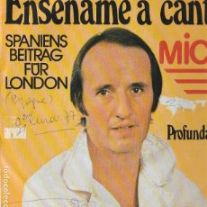 Discos de vinilo: MICKY ENSEÑAME A CANTAR SPANIENS BEITRAG FUR LONDON 1977 COVER USED ONWR VG--- VG GERMANY . Lote 167973756