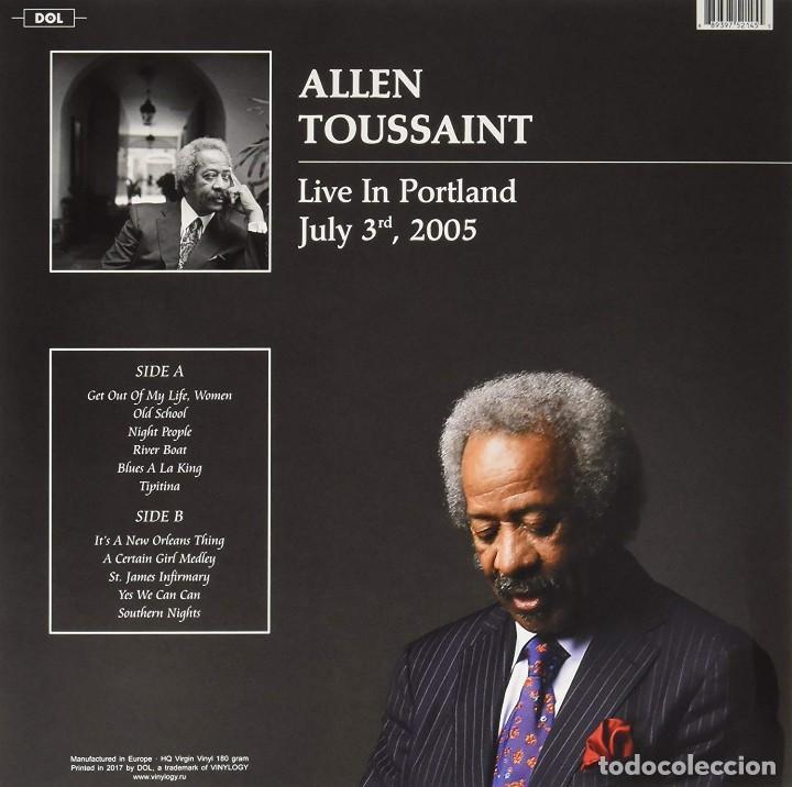 Discos de vinilo: Allen Toussaint * LP 180g Heavyweight vinyl * Live in Portland, July 3 2005 * Precintado - Foto 2 - 167980800