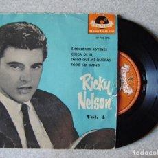 Dischi in vinile: RICKY NELSON.EMOCIONES JOVENES + 3. Lote 167994920