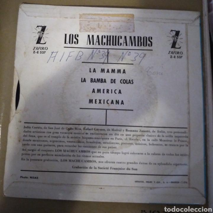 Discos de vinilo: Los Machucambos - La mamma + 3 - Foto 3 - 167995040