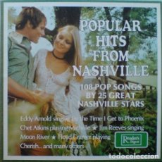 Discos de vinilo: POPULAR HITS FROM NASHVILLE CAJA 10 LPS 108 POP SONGS BY 25 GREAT STARS. Lote 167995480