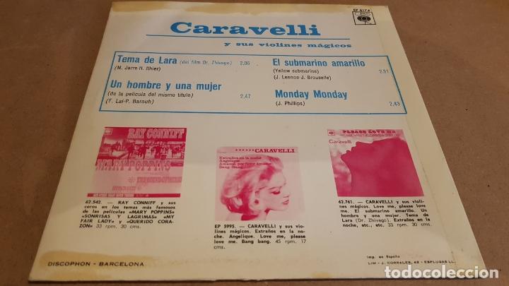 Discos de vinilo: CARAVELLI / CANCIÓN DE LARA / EP - CBS-1966 / MBC. ***/*** - Foto 2 - 168016680