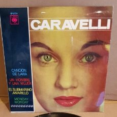 Discos de vinilo: CARAVELLI / CANCIÓN DE LARA / EP - CBS-1966 / MBC. ***/***. Lote 168016680